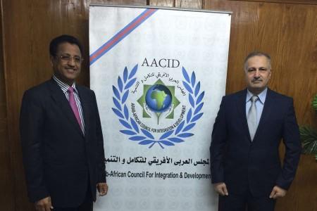 معالي وزير السياحة اليمني في زيارة لمقر المجلس العربي الافريقي للتكامل والتنمية.