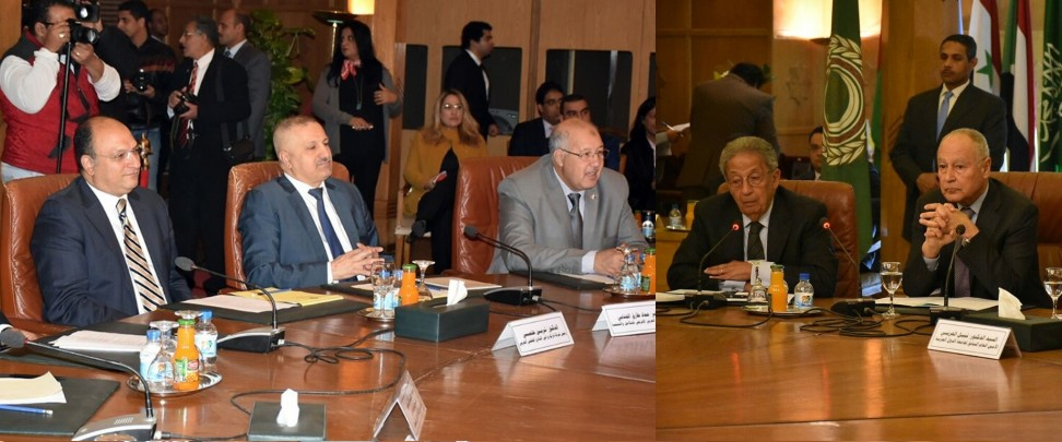 In a conference attended by the three Arab League leaders